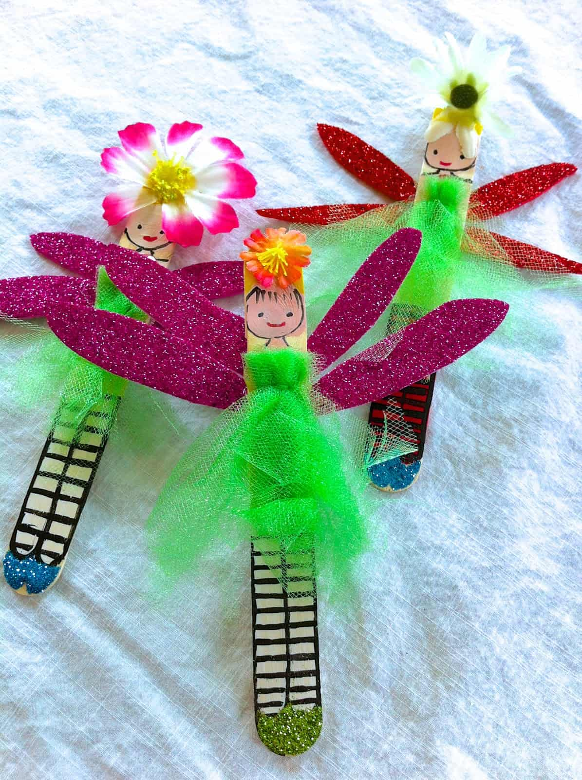 Popsicle stick fairies