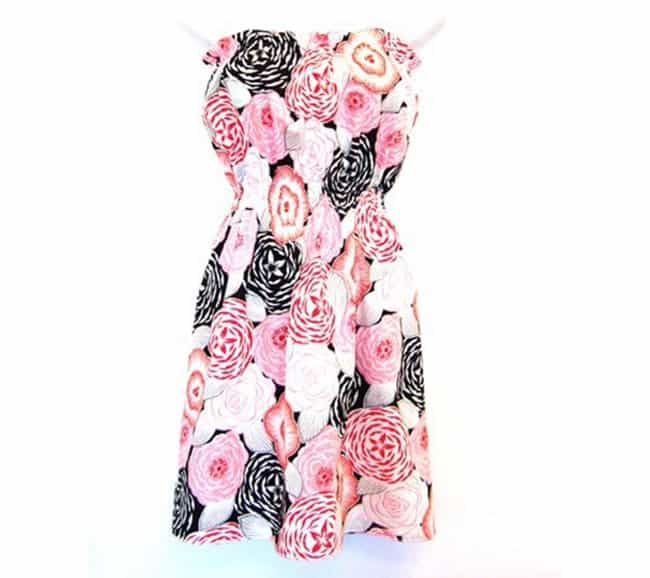 Pretty strapless summer dress