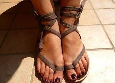 Recycled flip flop gladiator sandals