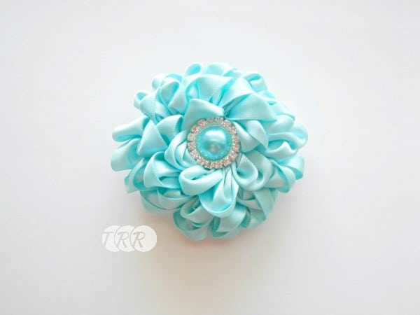 Satin ribbon flower