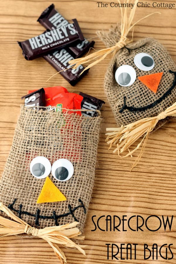 Scarecrow candy bags
