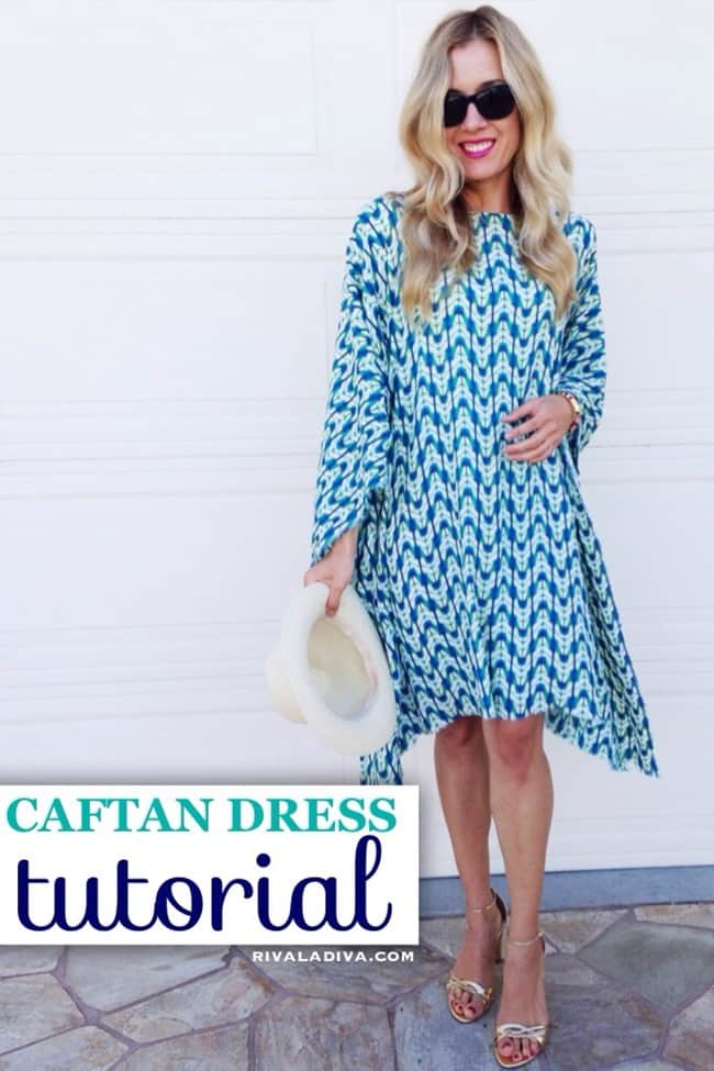 Swinging caftan dress