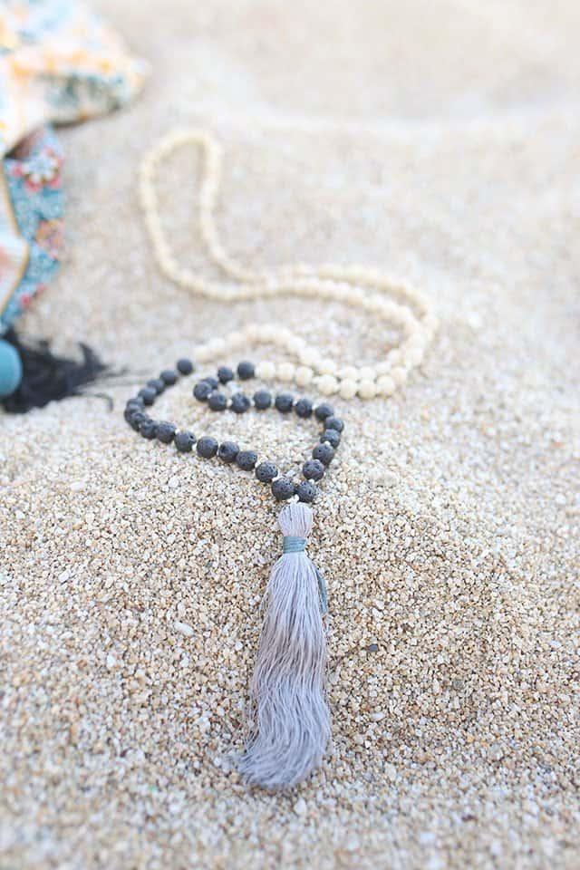Tassel mala necklace