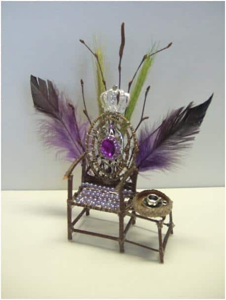 Twig and bead fairy chair