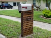 Wooden pallet mailbox 200x150 Exclusive and Welcoming: DIY Mailbox Ideas