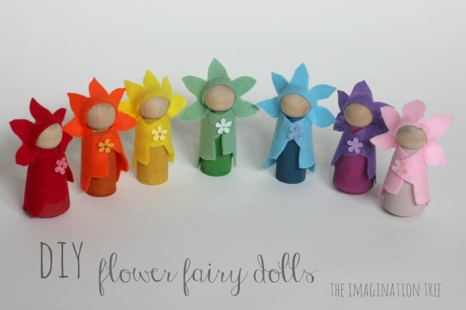 Wooden peg flower fairies