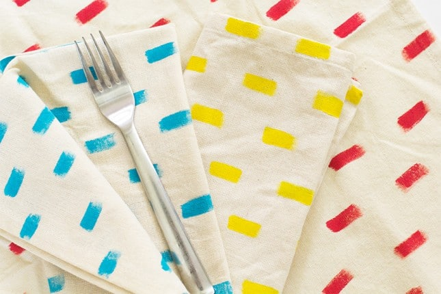 Anthropologie inspired paint napkins
