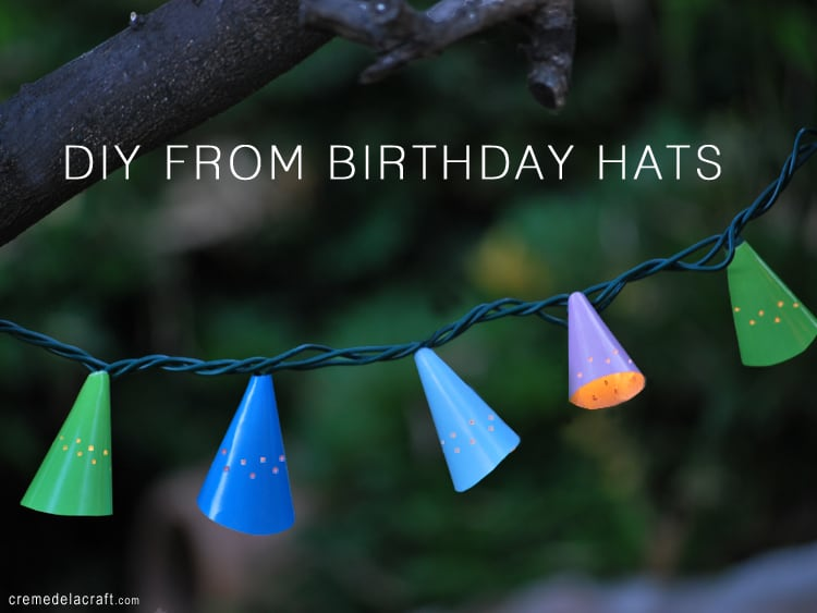 Birthday hat cone lights
