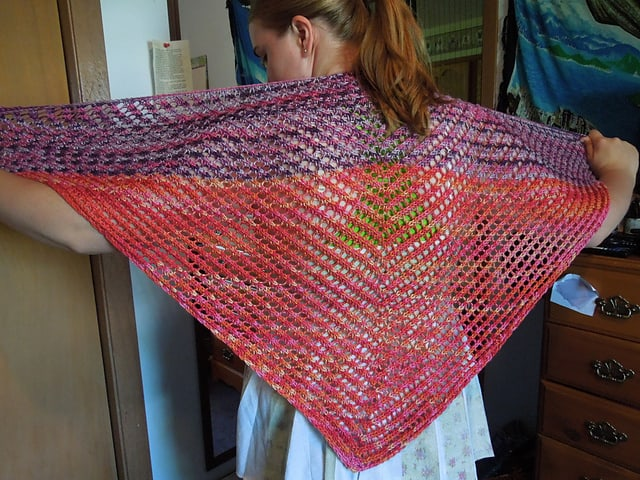 Blackberries in a Raspberry Patch shawl
