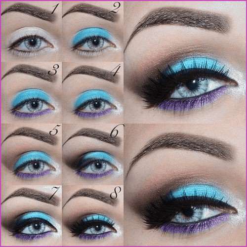 Blue lid with bright purple bottom liner