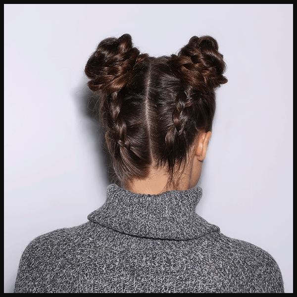 Braided baby buns