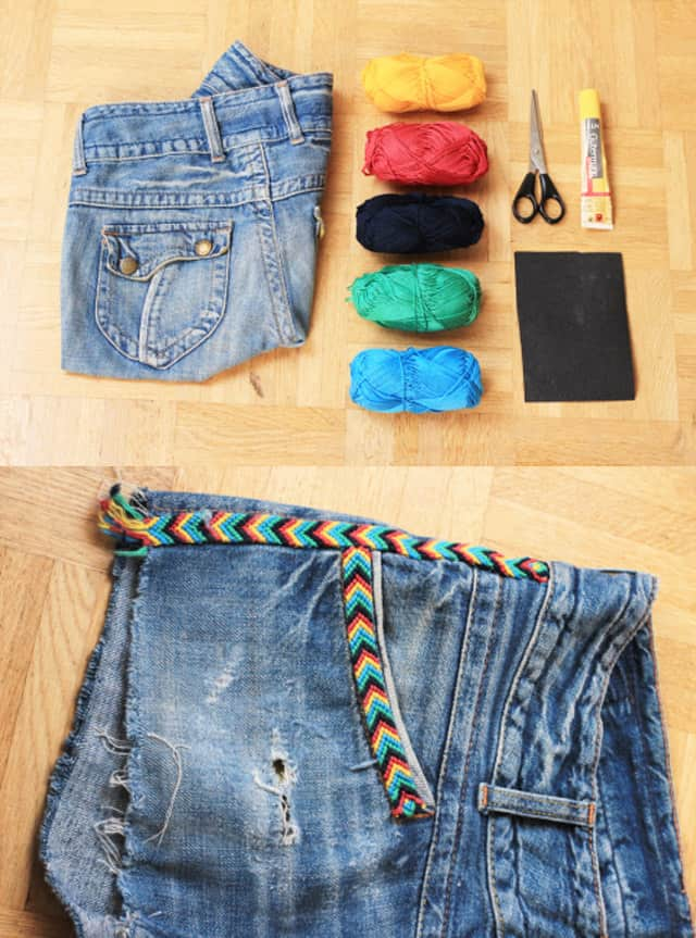 Braided yarn shorts