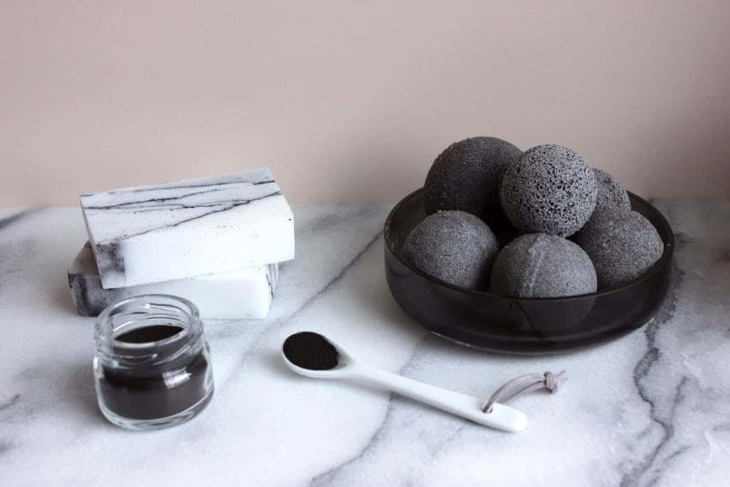 Charcoal bath bomb