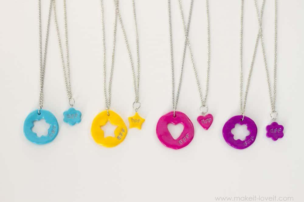 Cookie cutter friendship necklace