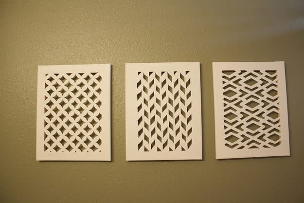 Cut out canvas wall art