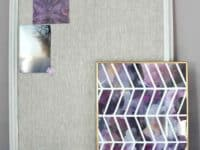 DIY fabric chevron frame 200x150 Awesome Purple DIY Ideas You Must Check Out