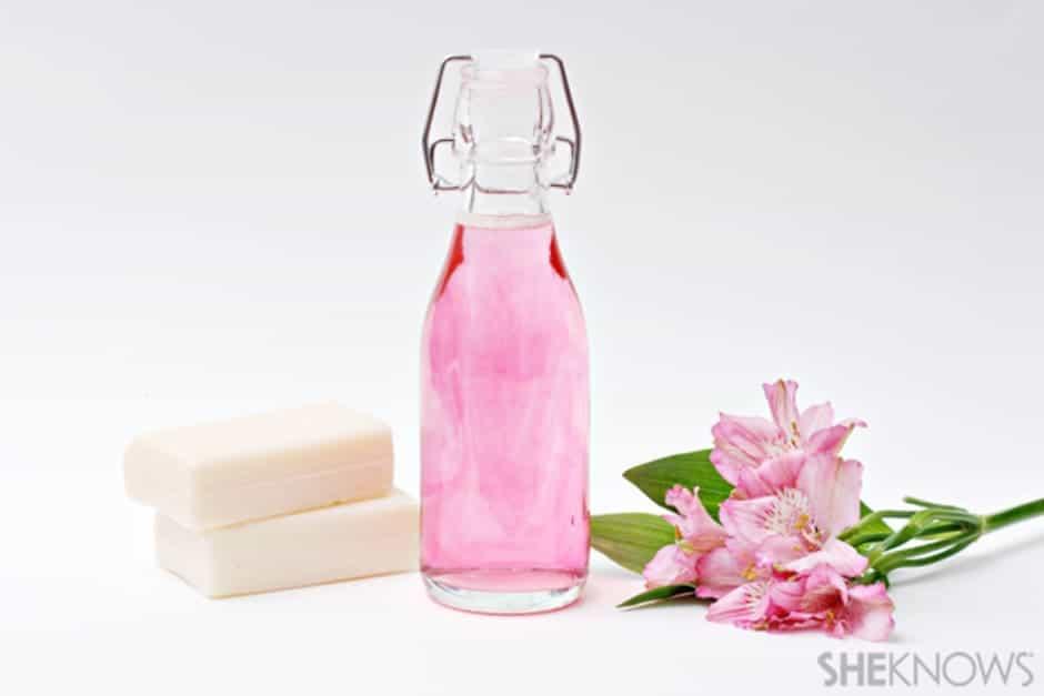 DIY rose oil bubble bath