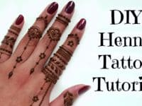 Delicate finger patterns 200x150 14 Pretty Henna Tattoo Patterns to Inspire You