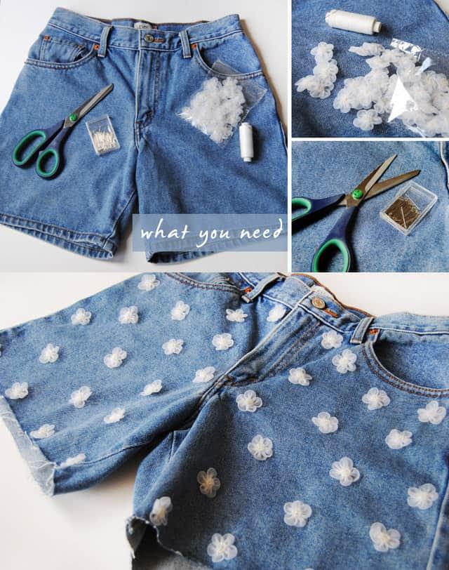 Delightful daisy shorts