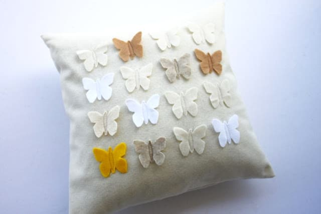 Felt butterfly pillows