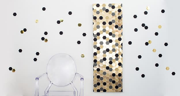 Hexagon canvas and floating hexagon wall art
