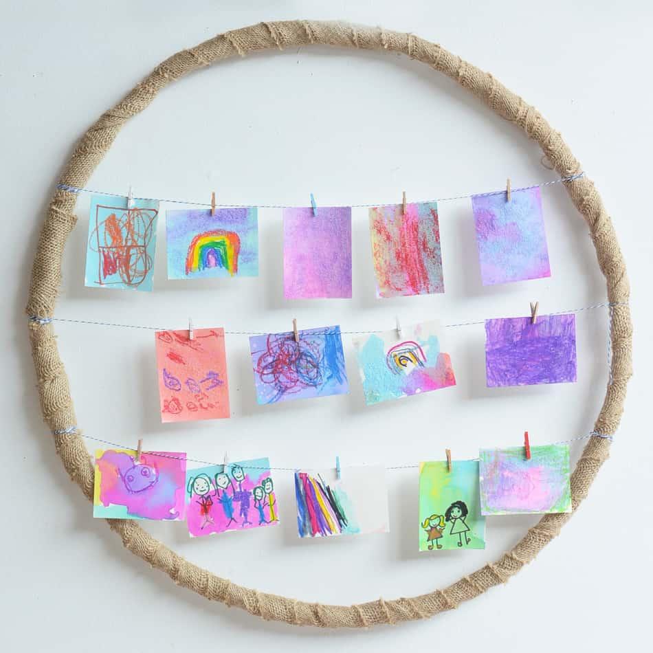 Hula hoop picture frame