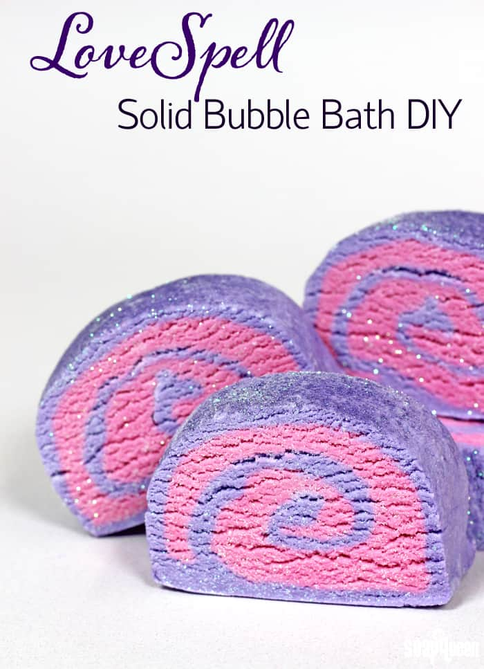Love Spell solid sparkly bubble bath