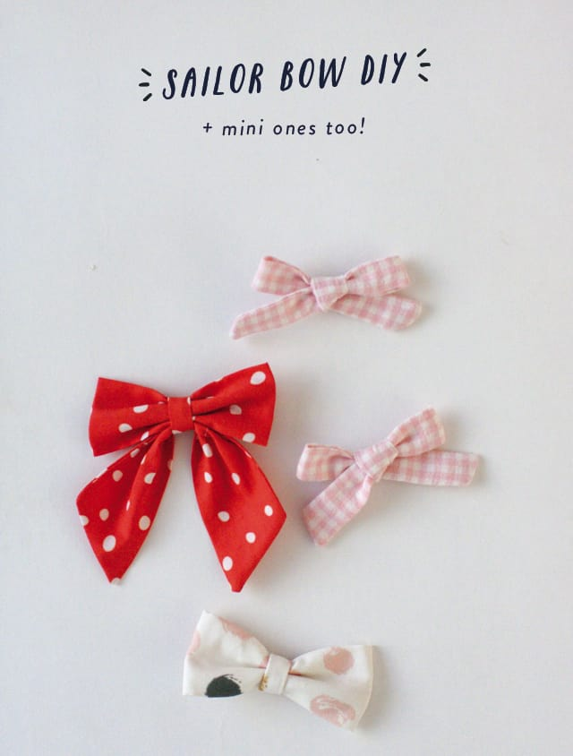Mini hair bows