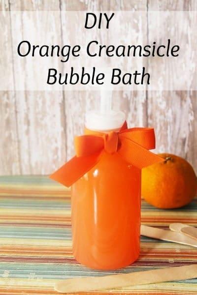 Orange creamsicle bubble bath