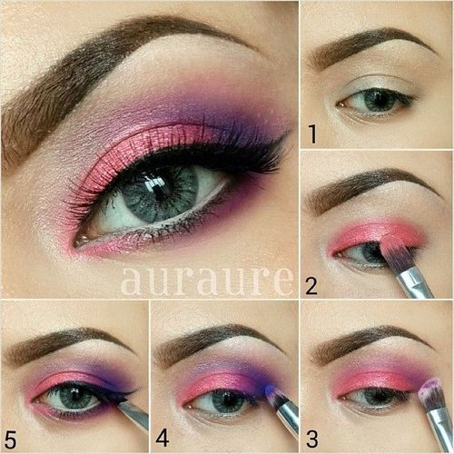 Pink with a purple crease