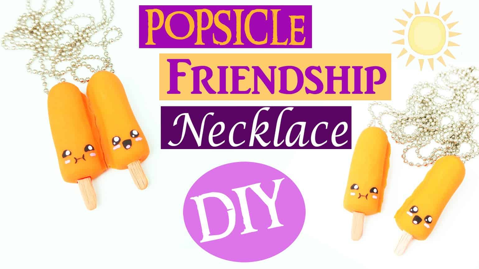 Popsicle friendship necklace