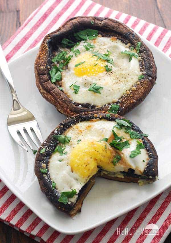 Portobello mushroom eggs