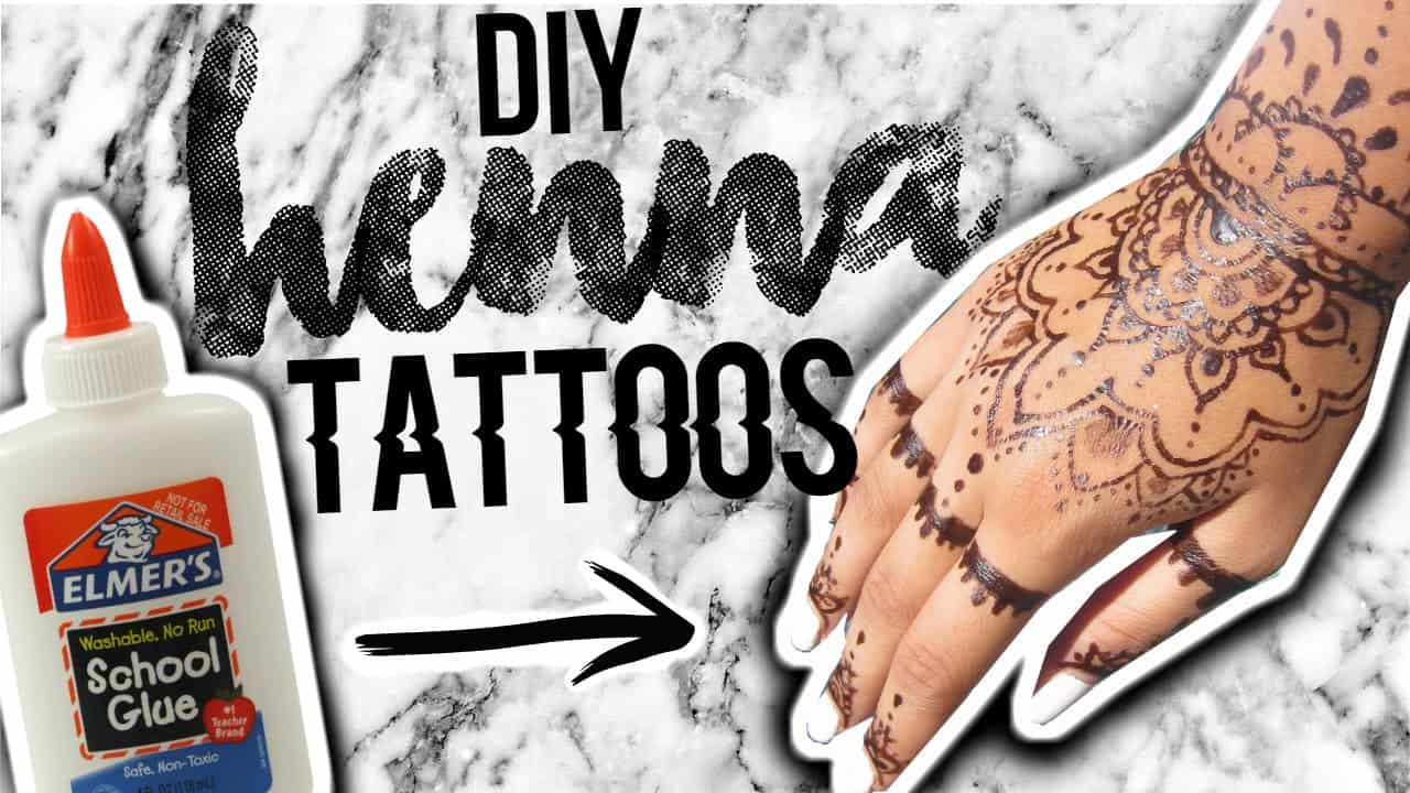 Powderless DIY henna tattoos