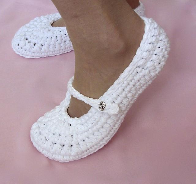 Pretty wedding slippers