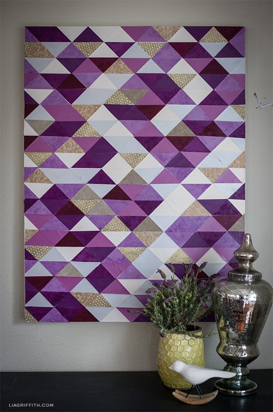 Purplepapertriangle canvas