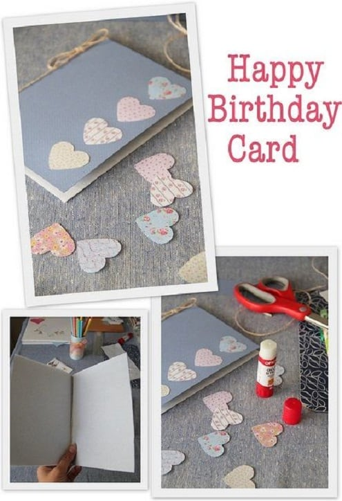 9 Scrapbook Paper And Heart Hole Punch Card VIEW IN GALLERY Are You Still Intent On Making Your Own Birthday Cards