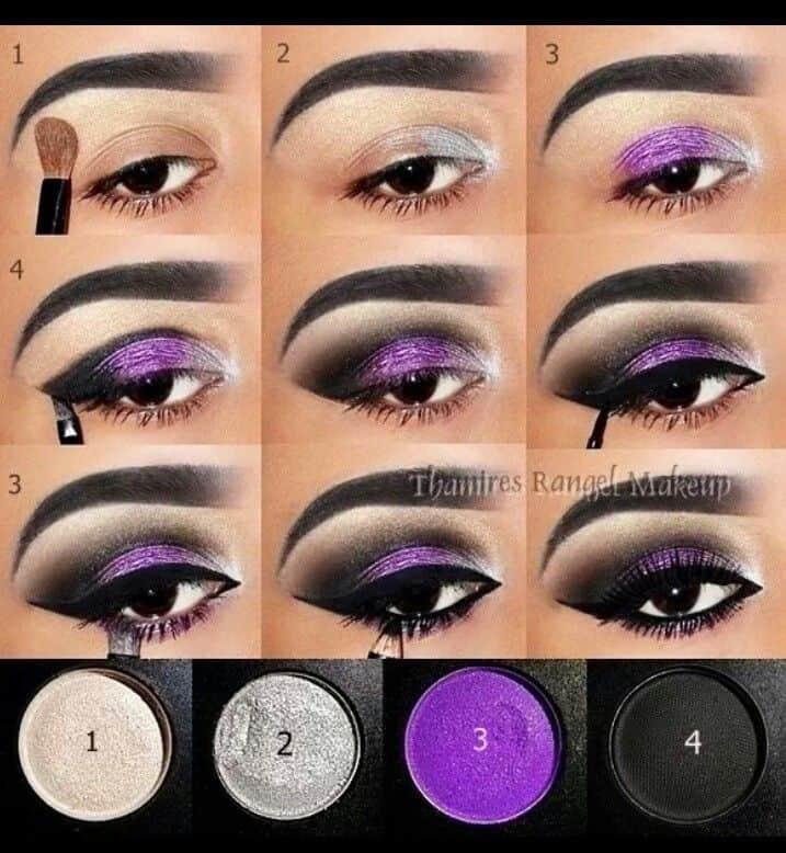 Sensual purple smoky eye