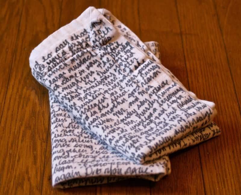 Sharpie text napkins