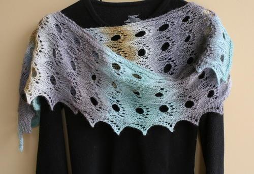 Shetland Glory shawlette