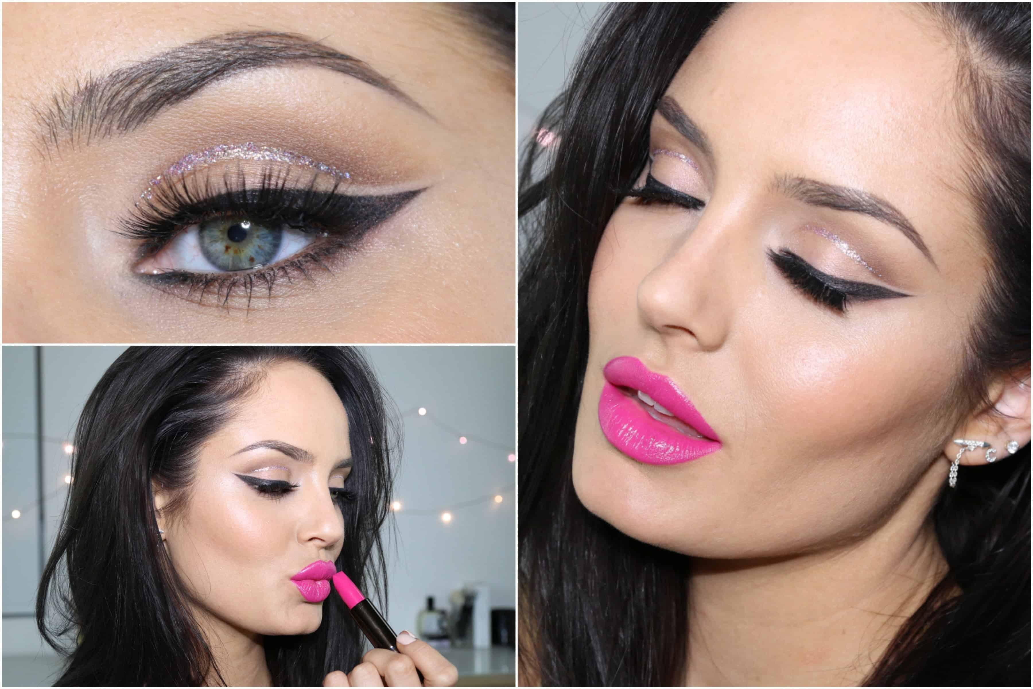 Shiny pink lip