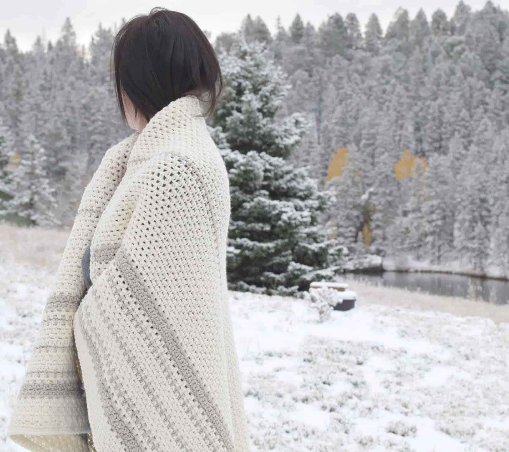 Soft crochet blanket