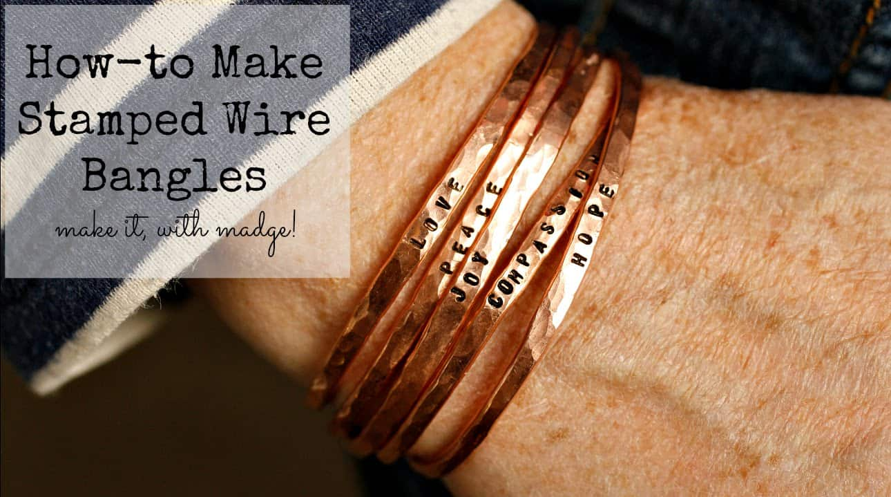 Stamped wire bangles