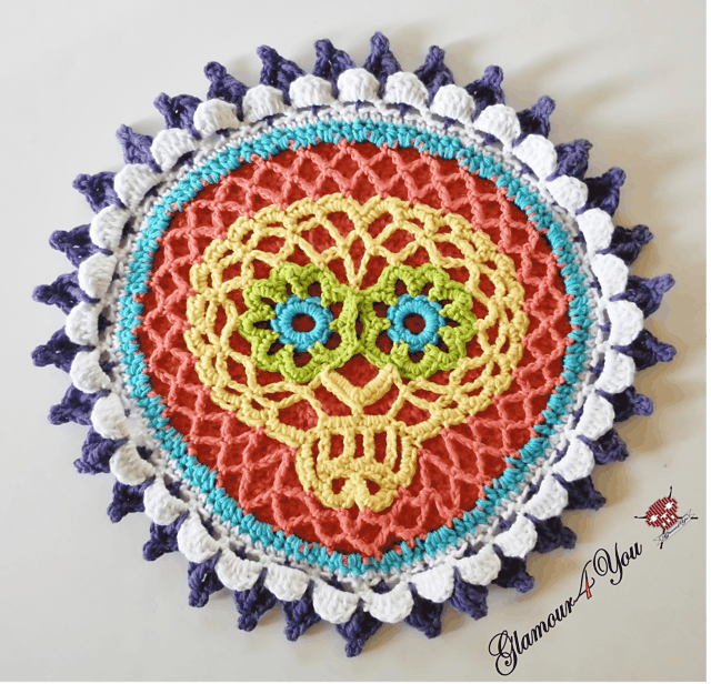 Sugar skull hot pad