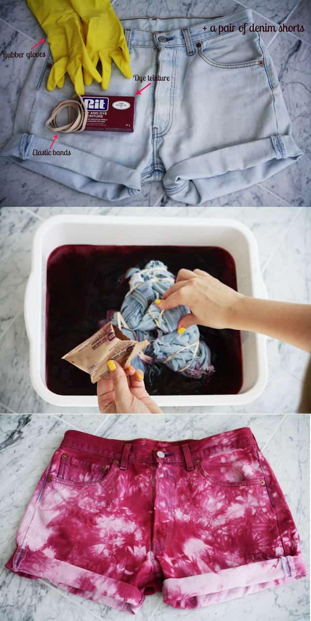 Trendy tie dye shorts