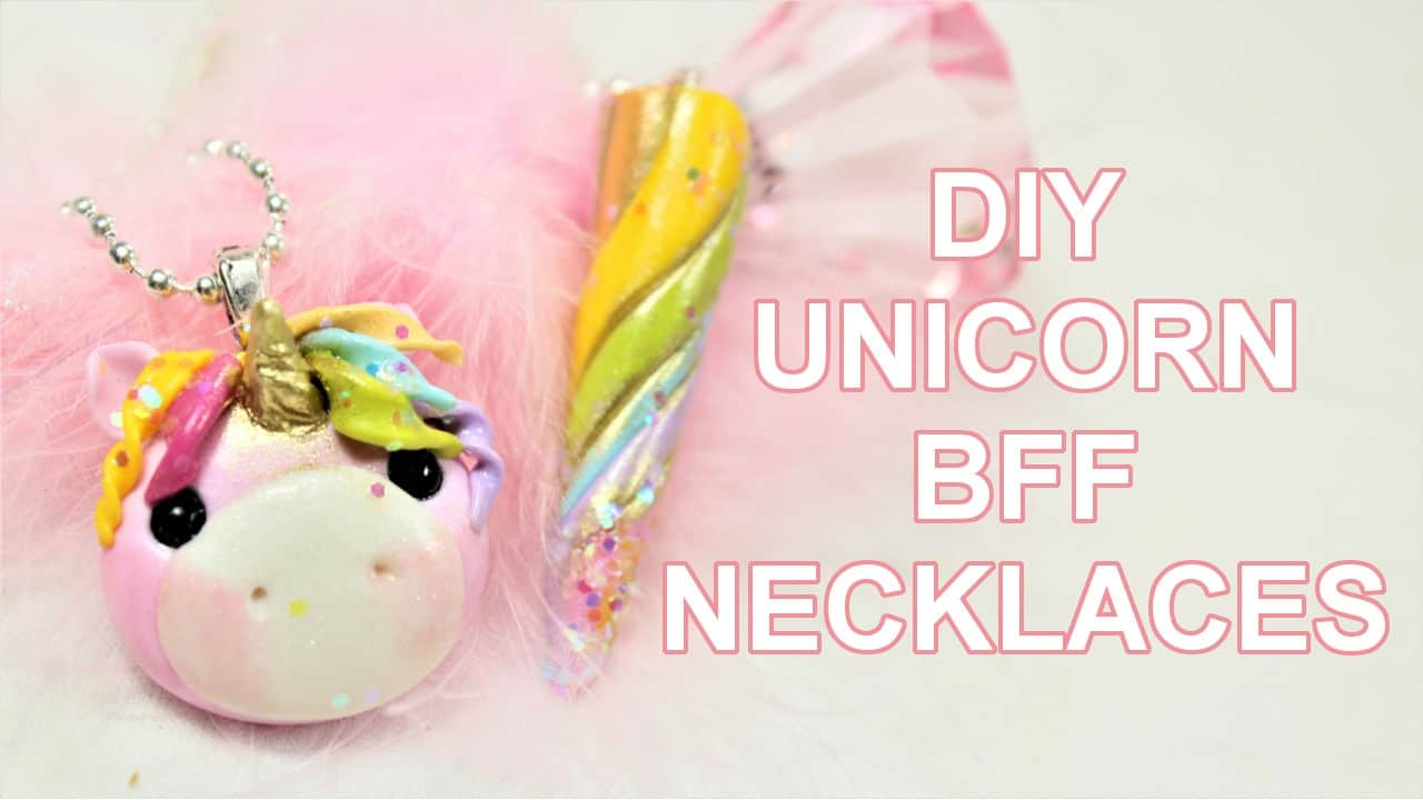 Unicorn friendship necklace