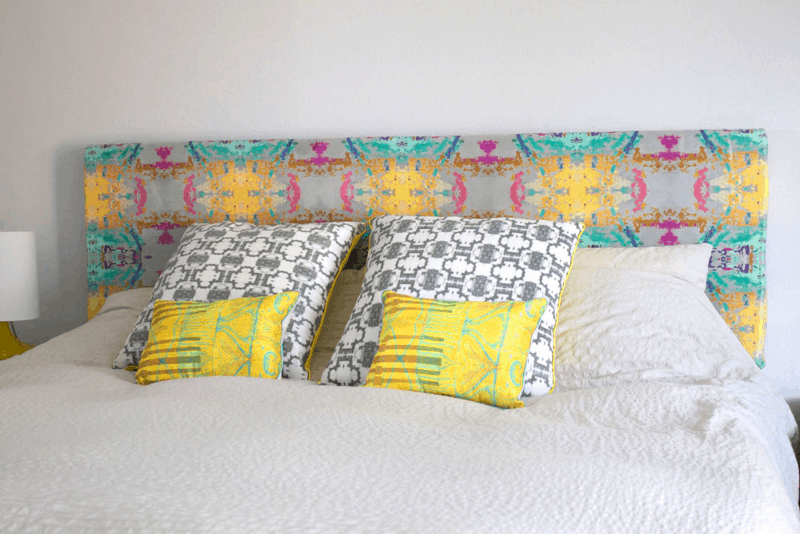 Vibrant upholstered headboard