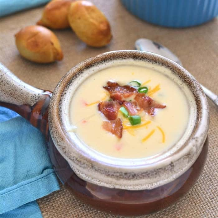 White cheddar cheese soup