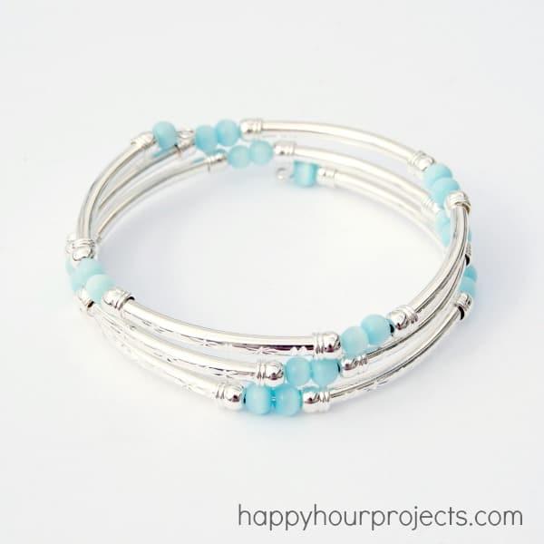 Wire tube bracelet