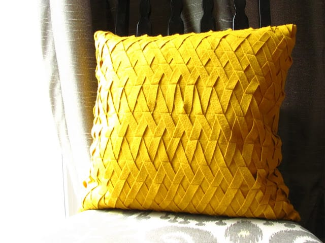 Woven felt pillow