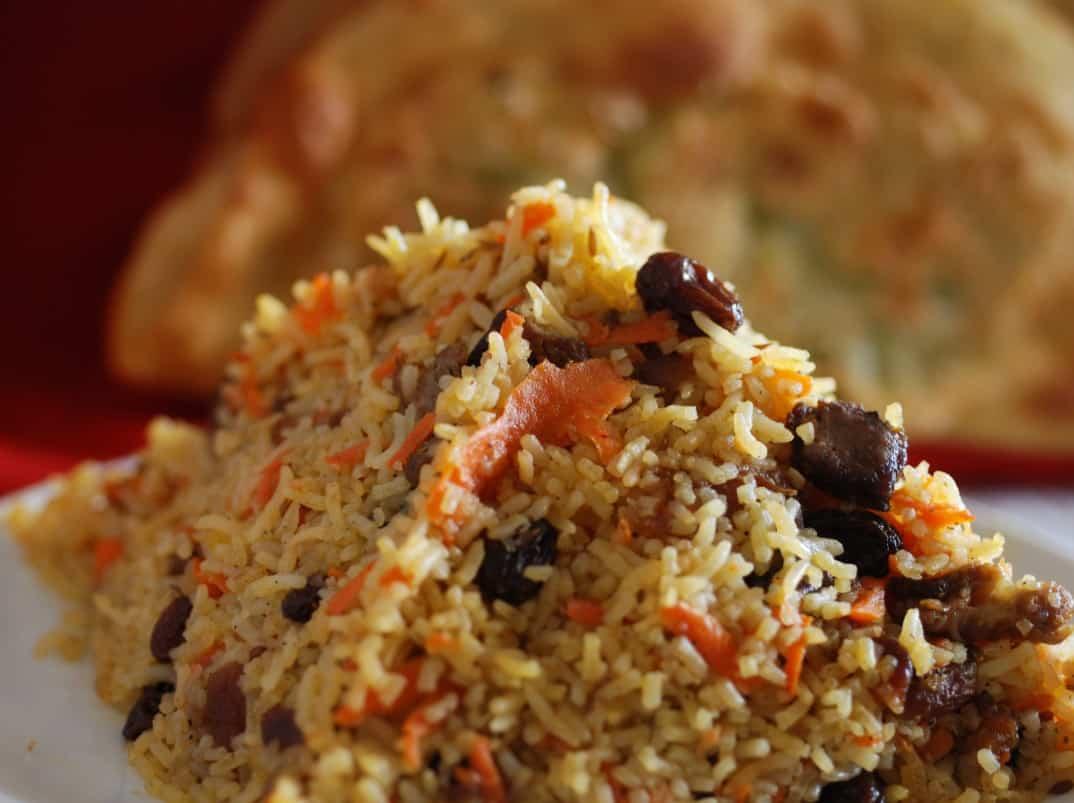 Afghan rice pulao